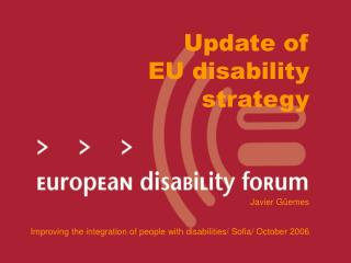 Update of  EU disability  strategy
