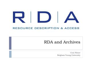 RDA and Archives