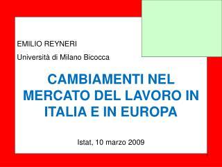 EMILIO REYNERI Università di Milano Bicocca
