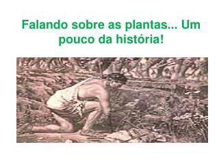 Falando sobre as plantas... Um pouco da história!