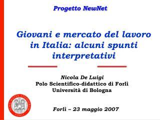 Giovani e mercato del lavoro in Italia: alcuni spunti interpretativi