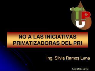 NO A LAS INICIATIVAS PRIVATIZADORAS DEL PRI