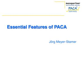 Essential Features of PACA