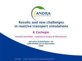 Results and new challenges  in reactive transport simulations