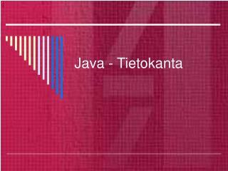 Java - Tietokanta