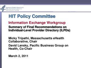 HIT Policy Committee