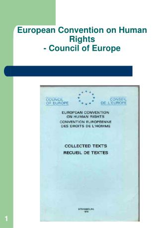 European Convention on Human Rights  - Council of Europe