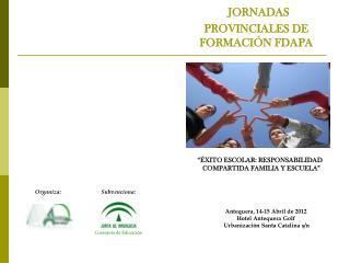 JORNADAS  PROVINCIALES DE FORMACIÓN FDAPA