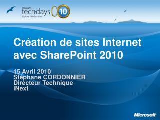Création de sites Internet avec SharePoint 2010
