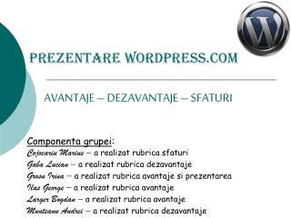 Prezentare WordPress