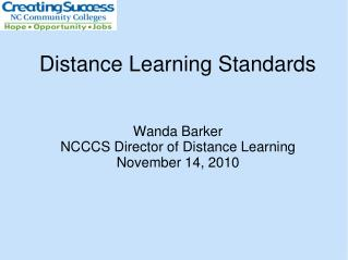 Distance Learning Standards