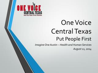 One Voice  Central Texas Put People First