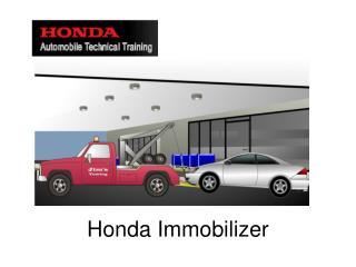 Honda Immobilizer