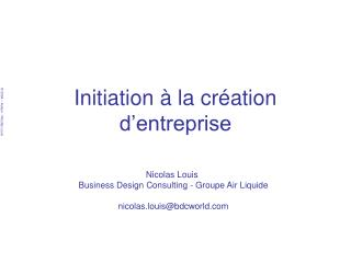 Initiation   la cr ation d entreprise