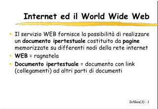 Internet ed il World Wide Web