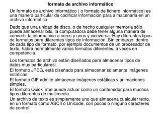 formato de archivo inform�tico