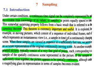 Sampling 7.1  Introduction