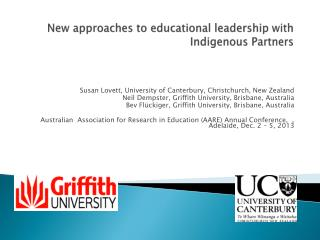 New approaches to educational leadership  with Indigenous Partners