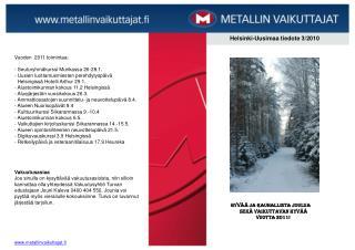 Helsinki-Uusimaa tiedote 3/2010