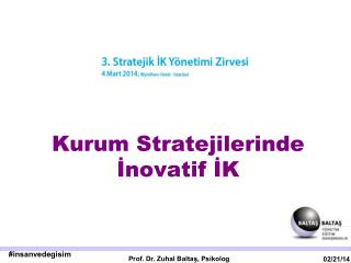 Kurum Stratejilerinde İnovatif İK