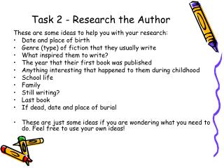 Task 2 - Research the Author