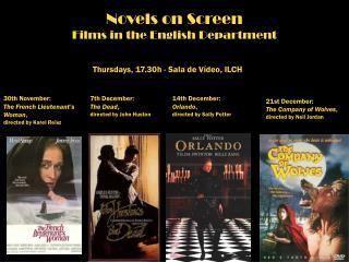 Novels on Screen Films in the English  Department