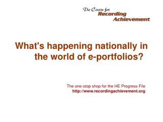 What's happening nationally in the world of e-portfolios?