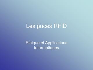 Les puces RFID