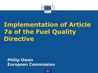 Implementation of Article 7a of the Fuel Quality Directive