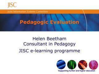 Pedagogic Evaluation