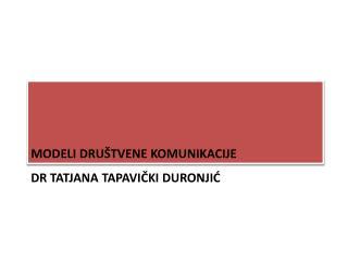 Dr tatjana tapavički duronjić