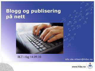 Blogg og publisering på nett