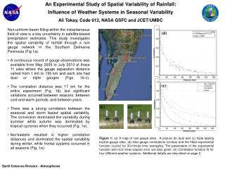 An Experimental Study of Spatial Variability of Rainfall: