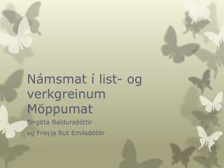 Námsmat í list- og verkgreinum Möppumat