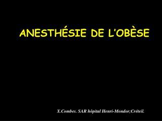 ANESTH SIE DE L OB SE