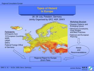 European Regional Consultation in Preparation of the EWC II