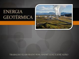 Energia  Geot�rmica