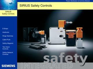 SIRIUS Safety Controls