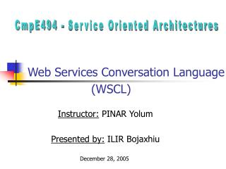 Web Services Conversation Language