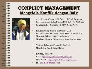 Agus Supriyadi  *Jakarta, 22 April 1988* Gol .  Darah  : A