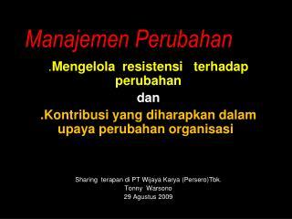 Manajemen Perubahan