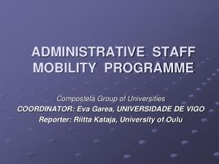 ADMINISTRATIVE  STAFF  MOBILITY  PROGRAMME