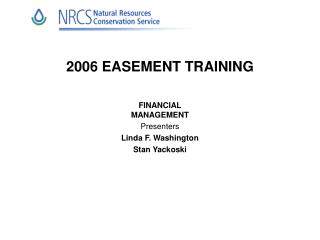 2006 EASEMENT TRAINING
