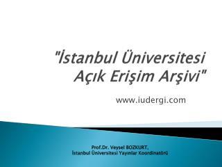 """""""İstanbul Üniversitesi Açık Erişim Arşivi"""""""