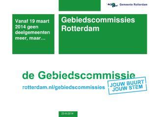 Gebiedscommissies Rotterdam