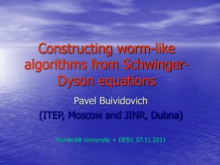 Constructing worm-like algorithms from Schwinger-Dyson equations