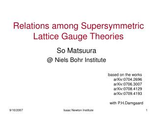 Relations among Supersymmetric Lattice Gauge Theories