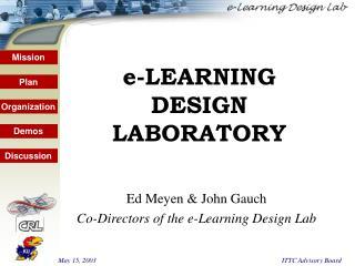 e-LEARNING  DESIGN LABORATORY