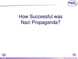 How Successful was Nazi Propaganda?