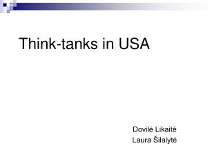 Think-tanks in USA